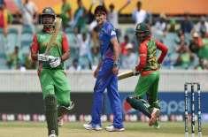 ورلڈکپ2015، افغانستان کے خلاف بنگلہ دیش کی بیٹنگ لائن لڑکھڑا گئی
