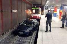 نشے میں دھت ڈرائیور کو یاد ہی نہیں کہ اس نے کار سٹرک پر نہیں چلائی