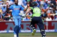 آئر لینڈ کا بھارت کو جیت کیلئے 260 رنز کا ہدف