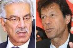 خواجہ آصف کیخلاف ہرجانہ کیس، عمران خان کے وکلاء کو تحریری دلائل جمع ..