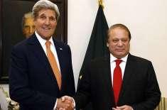 امریکی وزیر خارجہ جان کیری اور وزیر اعظم پاکستان نواز شریف کے مابین ..