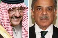 وزیراعلیٰ شہبازشریف کی سعودی عرب کے وزیرداخلہ محمد بن نائف سے عربی ..