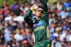 سعید اجمل نے انٹر نیشنل کرکٹ میں واپسی کے بعد پہلی وکٹ حاصل کر لی