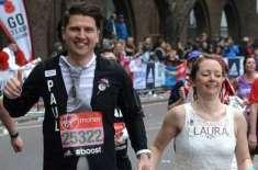 لندن میراتھون میں شامل جوڑے نے بھاگتے بھاگتے شادی کرلی