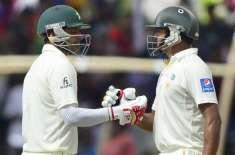 کھلنا ٹیسٹ:پاکستان نے دوسرے دن کھیل کے اختتام پر 1وکٹ کھو کر 227رنز بنا ..
