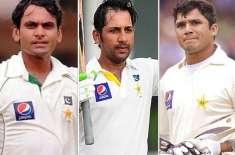کھلنا ٹیسٹ ، 3 پاکستانی بلے بازوں نے چھکا لگا کر نصف سنچریاں مکمل کیں