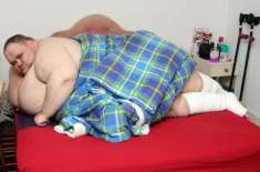 برطانیہ کا سب سے موٹا شخص ، موت کے دہانے پر