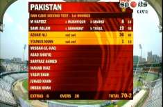 میر پور ٹیسٹ،پاکستان نے کھانے کے وقفے پر 2وکٹوں پر70 رنز بنا لیے