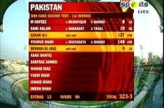 میر پور ٹیسٹ،پاکستان نے پہلے دن 3وکٹوں پر323 رنز بنا لیے