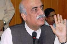 الطاف حسین جیسی سیاست ملک کو پھر سے ڈوبا دے گی : خورشید شاہ