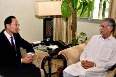 چینی سفیر کی وزیر اعلیٰ خیبرپختونخوا پرویز خٹک سے ملاقات، باہمی دلچسپی ..