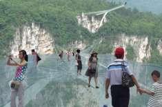 چین میں دنیا کا سب سے لمبا شیشے کا پل عوام کے لیے کھول دیا گیا