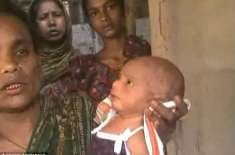 بھارتی جادوگرنی کا دو دن کے بچے پر ظلم