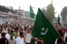 پاکستان سے والہانہ لگاؤ کا اظہار، مقبوضہ کشمیر میں بھارت مخالف مظاہروں ..