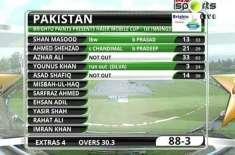 تیسرا ٹیسٹ، بارش کے باعث میچ روک دیا گیا ، پاکستان کے 3 وکٹوں کے نقصان ..