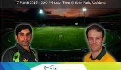 پاکستانی ٹیم اپنا پانچواں میچ جنوبی افریقہ کے خلاف سات مارچ کو کھیلے ..