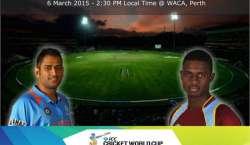 بھارت اور ویسٹ انڈیز کی ٹیمیں رواں ورلڈ کپ کے 28 ویں میچ میں 6 مارچ کو ..