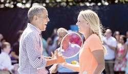 کیرولین ووزنیاکی نے براک اوباما کو ٹینس کھیلنا سکھا دی