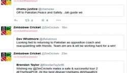 زمبابوین کھلاڑیوں کے سوشل میڈیا پر مداحوں کیلئے پیغامات