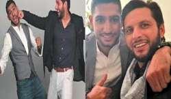 باکسر عامر خان کی پاکستان ٹی ٹوئنٹی کرکٹ ٹیم کے کپتان شاہد آفریدی سے ..