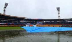 بنگلور : اے بی ڈیویلیئرز کا 100 واں ٹیسٹ بارش کی نذر ہوگیا