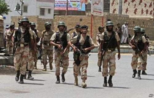 کراچی: مختلف علاقوں میں سکیورٹی ..