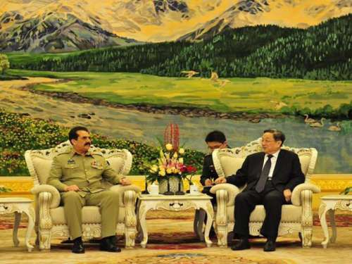 چین کی سیاسی قیادت سے بھی جنرل ..