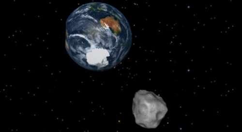 کروز شپ کے حجم کا سیارچہ زمین ..
