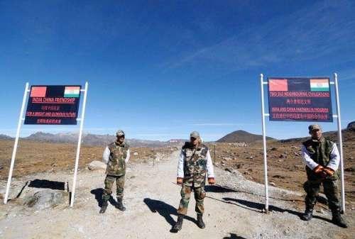چینی سرحد کے ساتھ 35 بھارتی فوجی ..