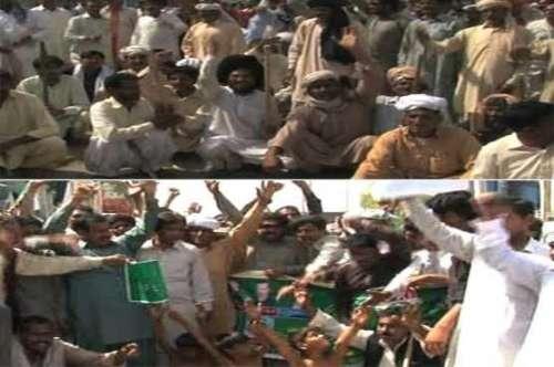 لاہور : ملتان روڈ پر کسانوں کا ..
