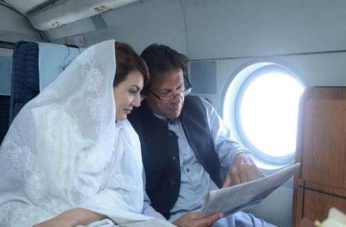 عمران خان اور اہلیہ ریحام خان ..
