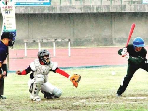 قومی بیس بال ٹیم کا تربیتی کیمپ ..