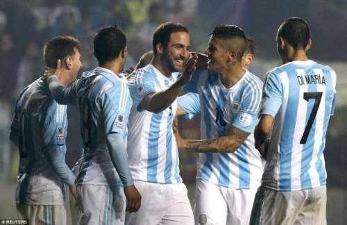 کوپا امریکہ فٹبال ، ارجنٹائن ..