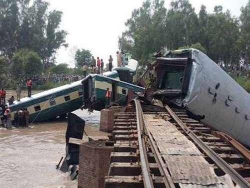 گوجرانوالہ ٹرین حادثے کی مزید ..