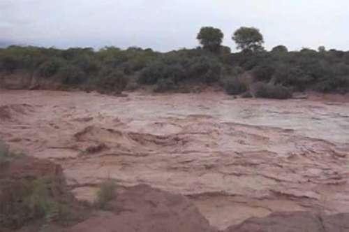 دریائے سندھ کے سیلابی ریلے نے ..