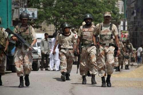 کراچی : رینجرز کا کورنگی میں ..