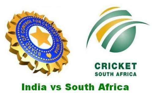 بھارت اور جنوبی افریقہ کے درمیان ..