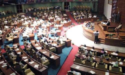 کراچی : اسپیکر آغا سراج درانی ..