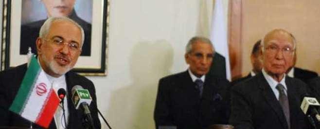 ایرانی وزیر خارجہ اور سرتاج عزیز کے مابین ملاقات، یمن تنازع کو مذاکرات ..