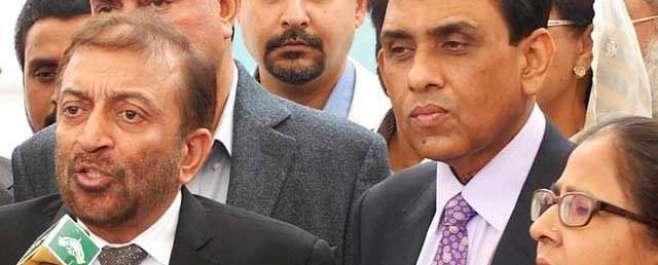 اسلام آباد : ایم کیو ایم کے وفد کی چئیر مین سینیٹ سے ملاقات، استعفے واپس ..