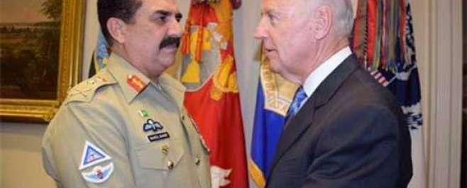 آرمی چیف جنرل راحیل شریف کی امریکہ کے نائب صدر جوبائیڈن سے ملاقات ، ..