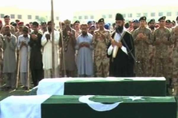 کراچی، خودکش حملے میں شہید دو رینجرز اہلکاروں کی نماز جنازہ ادا