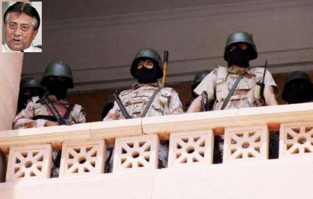 کراچی: ڈیڈلائن کے خاتمے کے بعد سابق صدر مشرف بنے رینجرز کی کاروائی کا ..