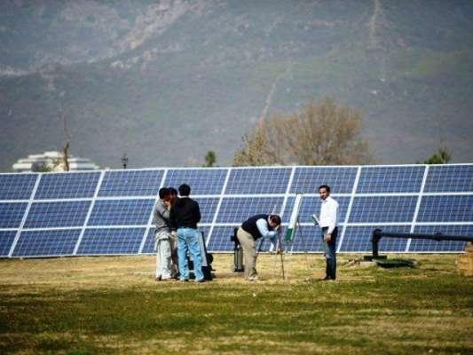 شمسی توانائی سے چلنے والا 100میگا واٹ کا منصوبہ مکمل ، چند دنو ں میں بجلی ..