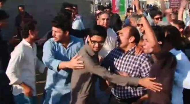 جناح گراوَنڈ میں پیش آنے والے واقعے کے باعث ایس ایچ او  عزیز آباد کو ..