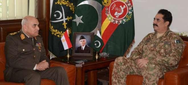 راولپنڈی: مصر کے وزیر دفاع اور کمانڈر انچیف کی آرمی چیف راحیل شریف سے ..