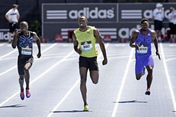 نیویارک ،یوسین بولٹ نے 200 میٹر ریس جیت لی