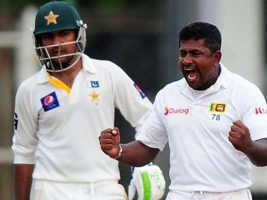 پاکستان ، سری لنکا کے مابین ٹیسٹ میچوں میں سری لنکاکے رنگناہیراتھ کامیاب ..