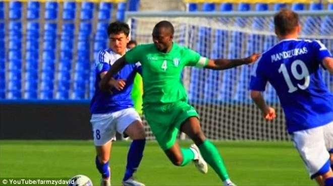 نائیجیرین فٹ بالر دوران میچ میدان پر ہی چل بسا