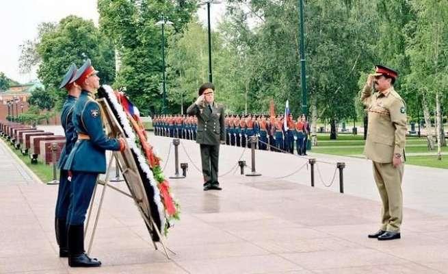 آرمی چیف راحیل شریف کی روس کے بری افواج کے کمانڈر سے ملاقات